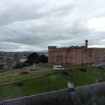 View from our room overlooking Inverness castle