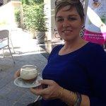 Egg foam cream coffee at the hotel bar! Yum!