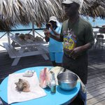 Tony doing his Conch demonstration