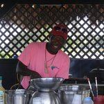 "Tony preparing ""The Best"" food on the Island!!"