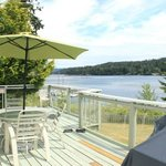View of the deck from the Briar Cottage