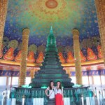 Visiting a temple on our tour