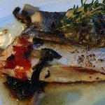 sea bream with mountain greens