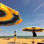 Собственный пляж отеля