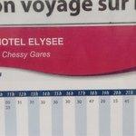 Horario de los autobuses gratuitos que, desde enfrente del hotel, os llevarán a Disneyland Paris