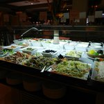 Just some of the cold buffet