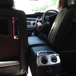 Chauffeured by Keith in house RR Phantom.