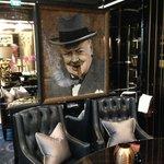 Winston resplendent in the Cigar Lounge
