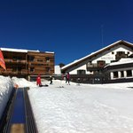 Hotel and small ski slope