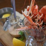 1/2 Pint of prawns and langoustines, delicious!