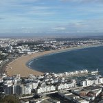 The view of the city and the beach from Agadir Oufella