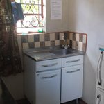 Small kitchen - the one in the main house is much bigger - but this is sufficient for small meal
