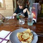 crêpe frangipane à La Dinette