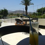 Cool shady drink at the bar