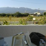 Breakfast view of the mountains
