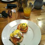 Brunch- Eggs Royale & Freshly Squeezed Orange Juice