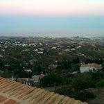 Vista desde la terraza donde se come.
