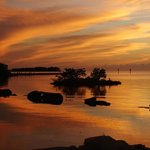 taken from the restauant dock at sunset