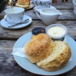 Enormous scone and local produce