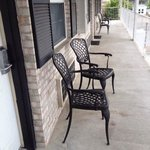 I loved the chairs outside the doors! really nice touch!