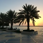 Корниче, Абу-Даби, ОАЭ. Закат.