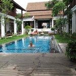 The pool/garden area.