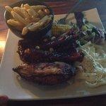 Chicken & Rib combo - Delicious.