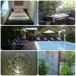 Photo de la chambre avec terrasse et de la piscine !