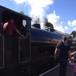 Option to use steam train at bottom of car park (Aquarium is there too)  1/2 minute walk