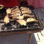 High Cay : repas langouste