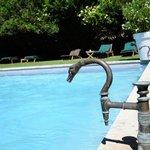 la fantastique piscine du château