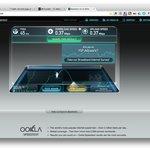Internet speed test at hotel