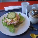 Repas pris à la cafetaria