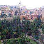 Vistas de la catedral desde el Hotel Albarracin