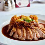 Duck breast with whipped sweet potatoes