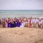 All my wedding guests- a pic of the beach