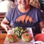 Arepas Toasted Pistachio & Raisin Chicken Salad, Key West Ceviche