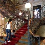 The internal stairway