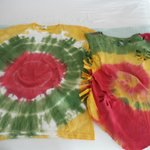 Tie dye shirts made with entertainment crew