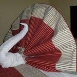 Handtuch-Skulptur