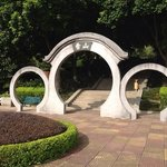 A nice and artistic arch in the park