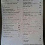 Prezzi menu