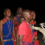 Surprise bush dinner and Masai warrior ceremony.