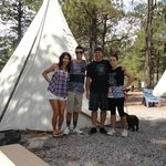 Outside the teepee