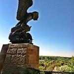 Sculpture Near Overlook of St Paul
