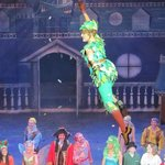 Peter Pan flying in the theatre