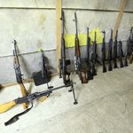 Some of the larger weapons