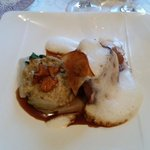 Goose breast with risotto