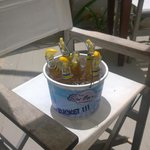 One of our several buckets of beer!