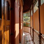 Narrow verandah outside room